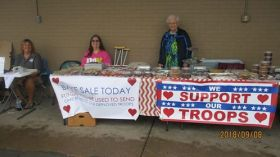 bake sale for $ for boxes to troops 9 2018 a