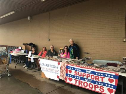 bake sale for $ for boxes to troops 9 2018 b
