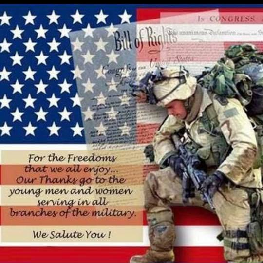 Fourth of July Thank YOu to all who served