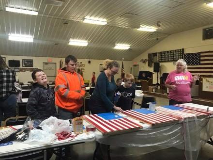 Jrs preparing for Veterans Day Parade