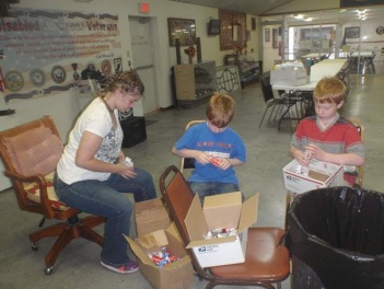preparing boxes for troops b