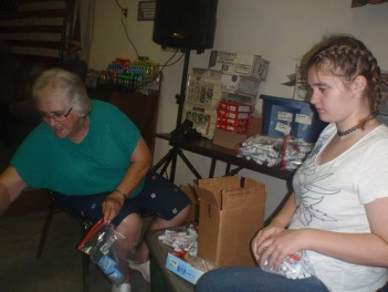 preparing boxes for troops