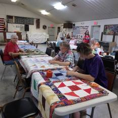 quilt tacking party